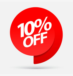Discount with price is 10 vector