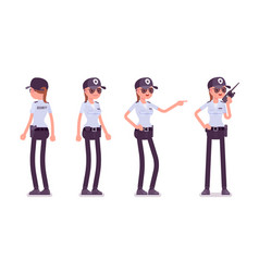 Female security guard vector