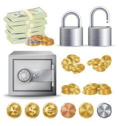 Finance secure concept gold silver vector
