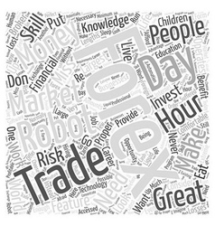forex trading robot Word Cloud Concept vector image vector image