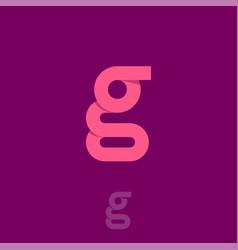 G origami monogram pink letter vector