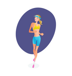 girl engaged in track and field athletics vector image