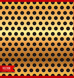 golden circle metal texture background vector image
