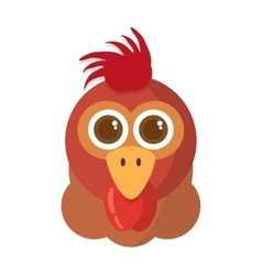 hen animal farm isolated icon vector image
