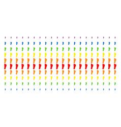 Human footprint shape halftone spectral effect vector