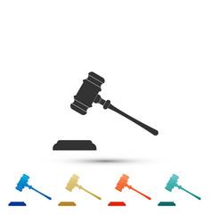 judge gavel icon isolated on white background vector image