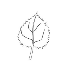 leaf coloring page vector image