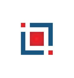 letter il square logo design template element vector image
