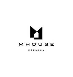 m house logo icon vector image