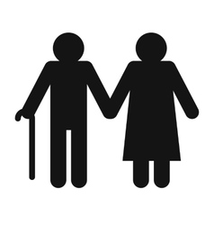 Man and woman in old age vector image