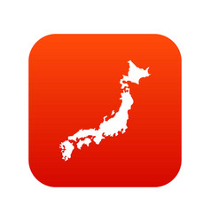 map of japan icon digital red vector image