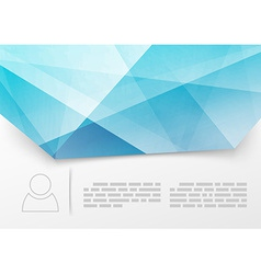 Modern blue crystal print booklet template vector image