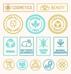 Natural cosmetics vector