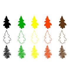 oak leaf color set vector image