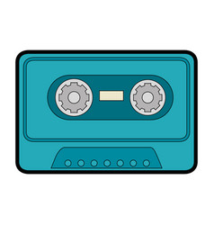 Old music cassette vector