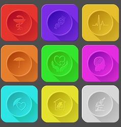 pharma symbol dna cardiogram umbrella love in vector image