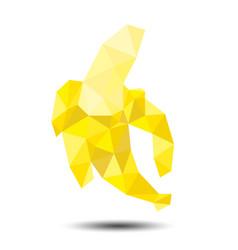 polygon banana icon on white background vector image