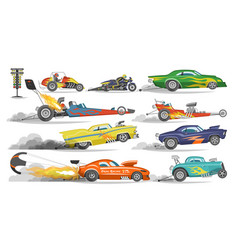 race car drag racing on speedcar on a track vector image