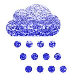 Rain cloud grunge textured icon vector