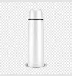 Realistic 3d wgite empty glossy metal vector