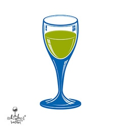 Realistic 3d wineglass beverage theme decorative vector