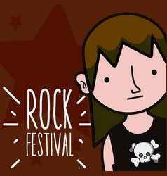 rock festival cartoon vector image