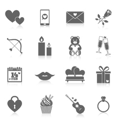 Romantic Icon Set vector image