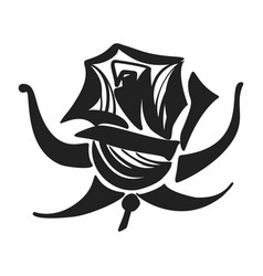 rose icon simple style vector image