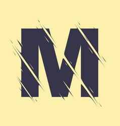 scribbled letter m vector image
