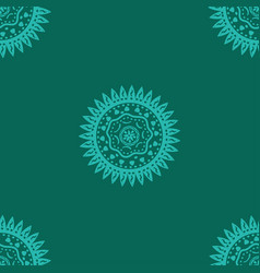 Seamless pattern with sun ethnic symbol pattern vector