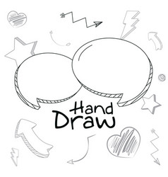 set chat bubbles hand draw vector image