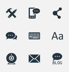 Set simple user icons vector