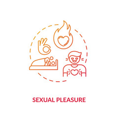Sexual pleasure concept icon vector
