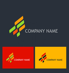 shape business company logo vector image