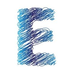 Sketched letter e vector