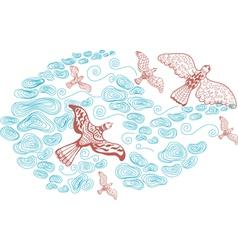 sky and bird vector image