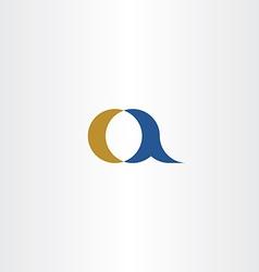 Small a letter a logo icon element design symbol vector