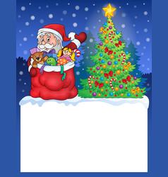 small frame with christmas theme 2 vector image