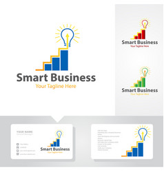smart business logo designs vector image