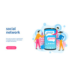 social network template vector image