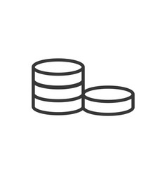 stacked coins bank money icon thick line vector image