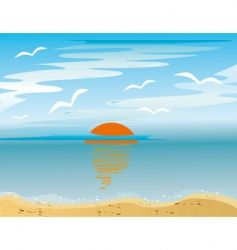 Sunrise over the sea vector