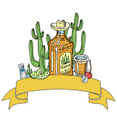 tequila background banner vector image