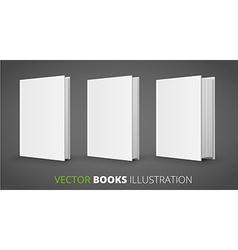 Three books vector