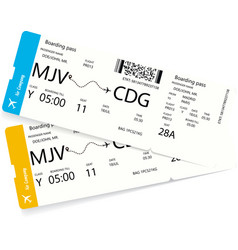 two airline tickets vector image