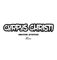 United states corpus christi texas city graffitti vector