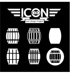 wooden beer keg icon vector image
