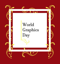 World graphic day design flat style vector