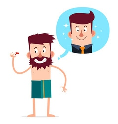 young bearded man vector image