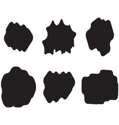 Black white set cloud vector image vector image